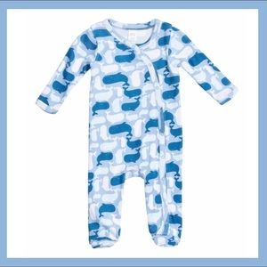 NWT Nordstrom Baby Footies NBS Blue Whales
